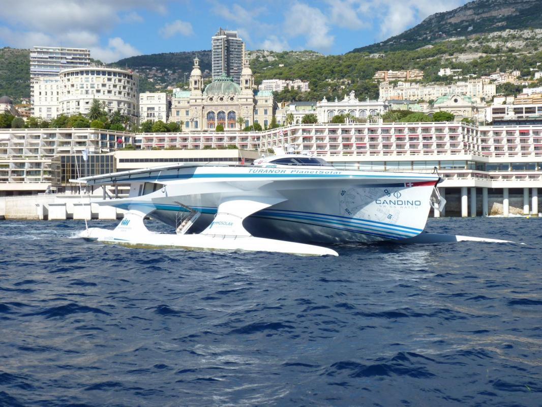 PlanetSolar à Monaco